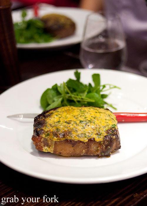 Greenstone steak sirloin with Cafe de Paris butter at Fix St James, Sydney