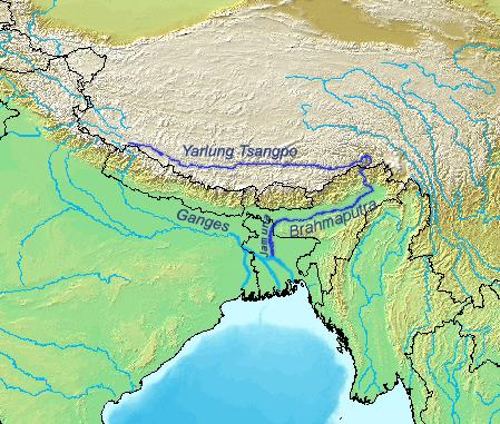 Brahmaputrarivermap