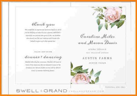 8  free printable wedding program templates word   Free