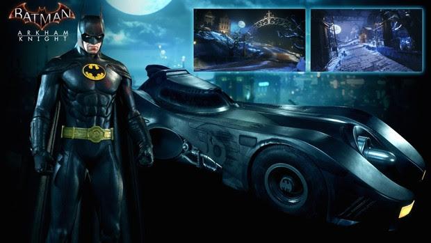 'Batman: Arkham Knight' vai ganhar traje e batmóvel do filme de Tim Burton, de 1989 (Foto: Divulgação/WB Games)