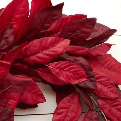 Burgundy Artificial Magnolia Wreath   Wreaths   Floral