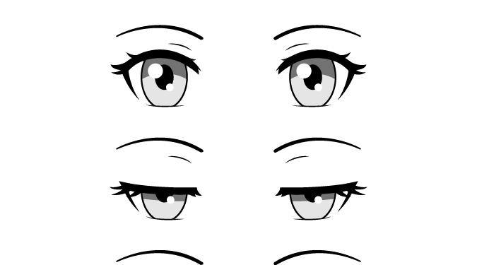 Anime Girl Eyes Closed Drawing