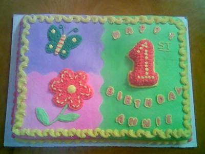 Birthday Cake Ideas On Colorful First Sheet