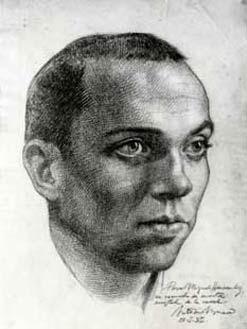 Retrato de Miguel Hernández por Antonio Buero Vallejo, 1940.
