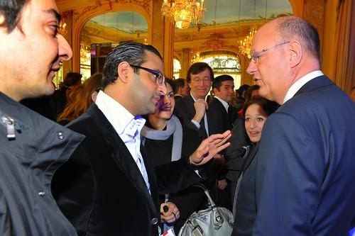 Conversation sympathique avec Remy Pflimlin - Président de France Télévisions (France 2, France 3, France 4, France 5 et France O) by Arash Derambarsh