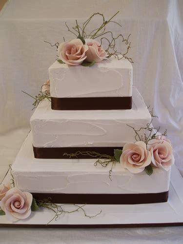 3 Tier square wedding cakes white style ~ Wedding Ideas