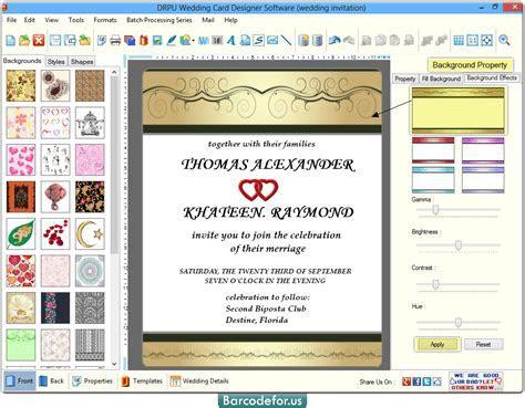 Wedding Card Maker Software designs invitation cards