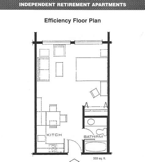 apartments efficiency floor plan floorplans studio