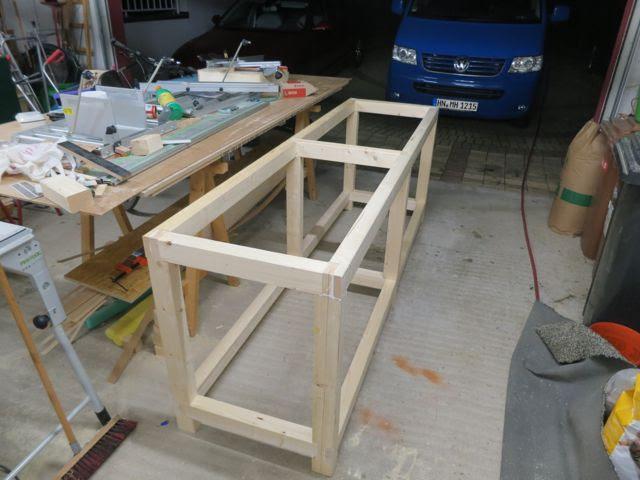 Stabile Werkbank - Teil 1 Unterbau - Holz und Leim
