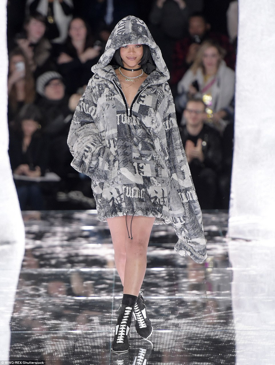 Multi-talented! Rihanna, 27, debuted her Fenty Puma Fall 2016 collection at Mercedes-Benz Fashion Week in New York City on Friday