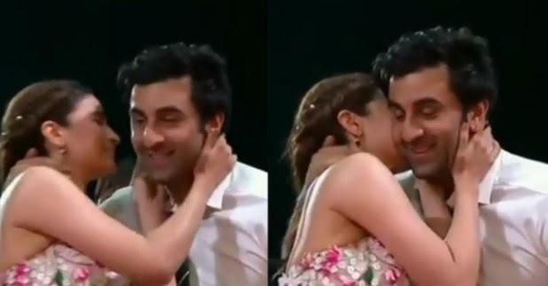 Ranbir Kapoor and Alia kisses at an award show, the video is breaking the Internet