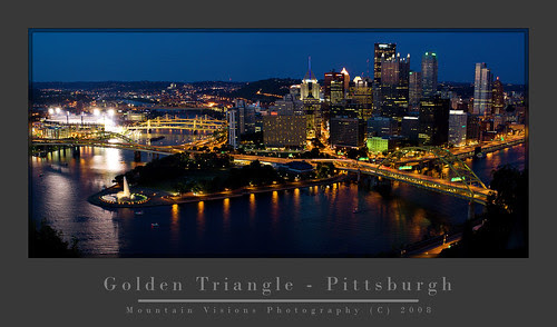 Evening Skyline Over Pittsburgh
