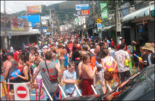 Crowds on Soi Bangla - Songkran 2009, Patong Beach Phuket