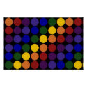 Rainbow Polka Dots on Black