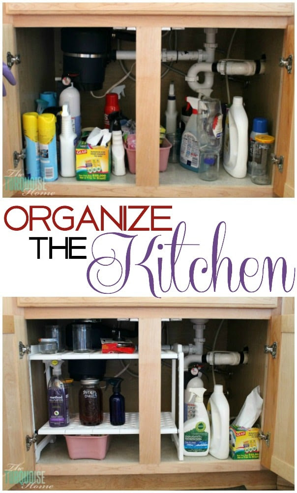 Kitchen Organization Supplies | TheTurquoiseHome.com
