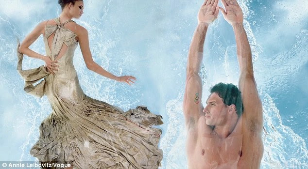 Great lengths: Vogue's talented digital team turn a plastic swimming Mr Lochte into underwater magic
