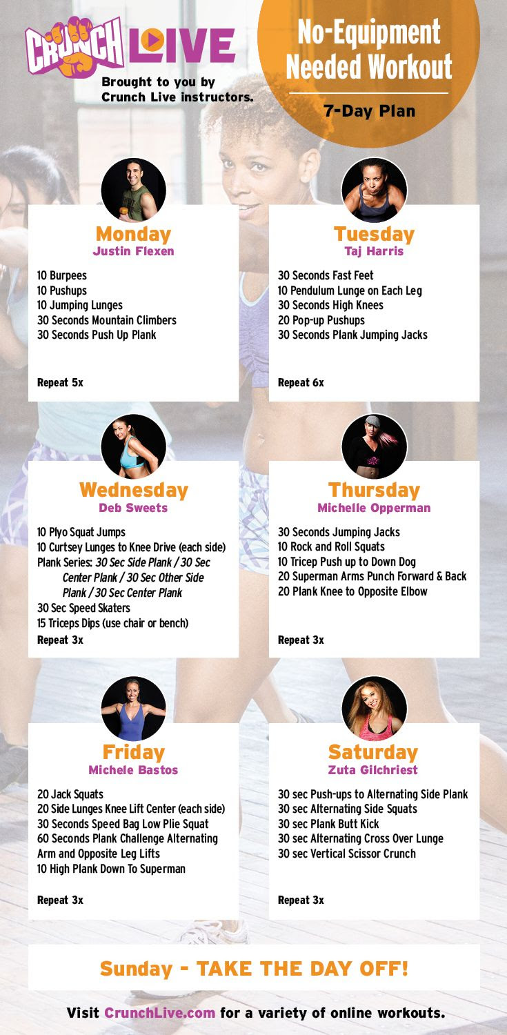 1000+ ideas about 7 Day Workout Plan on Pinterest | 7 day workout ...