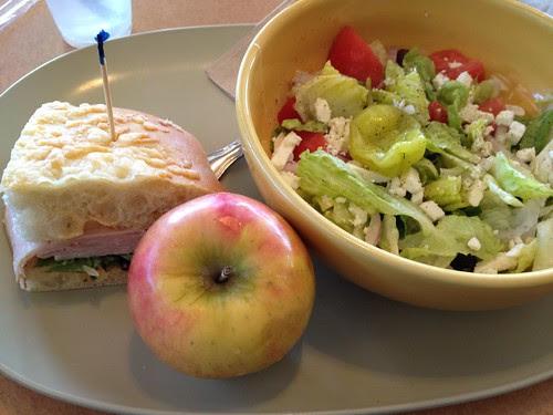 Sierra Turkey and Greek Salad from Panera