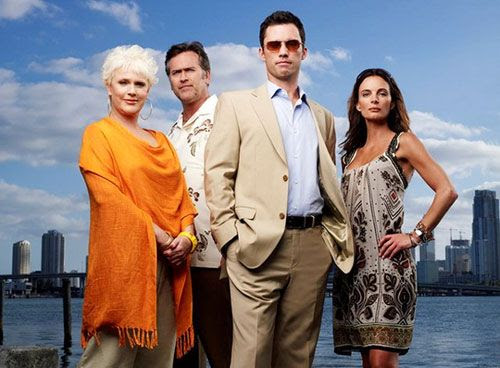 Sharon Gless, Bruce Campbell, Jeffrey Donovan and Gabrielle Anwar star in USA Network's BURN NOTICE.