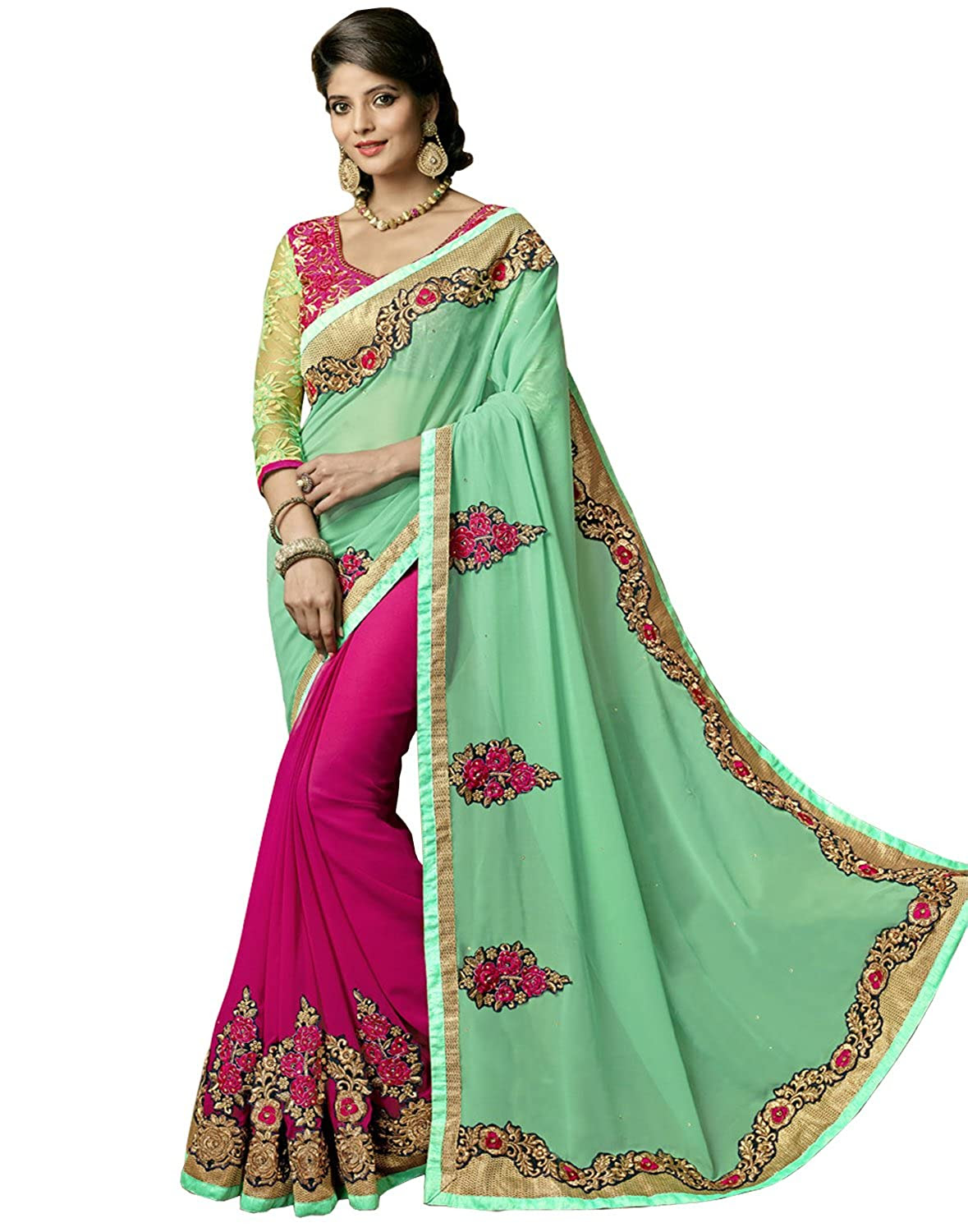 Deals on Sareeshop Georgette Saree