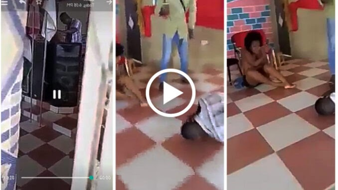 Pastor Caught red-handed sleeping with a married woman on his church altar (Video)