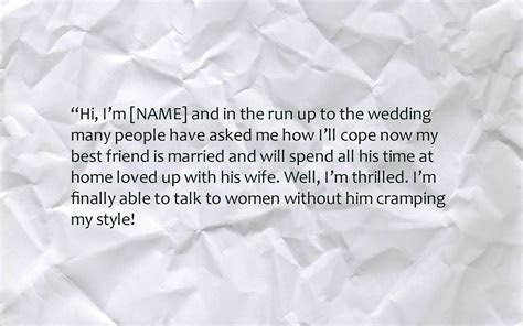 Funny Best Man Speeches   Text & Image Speeches On QuoteReel