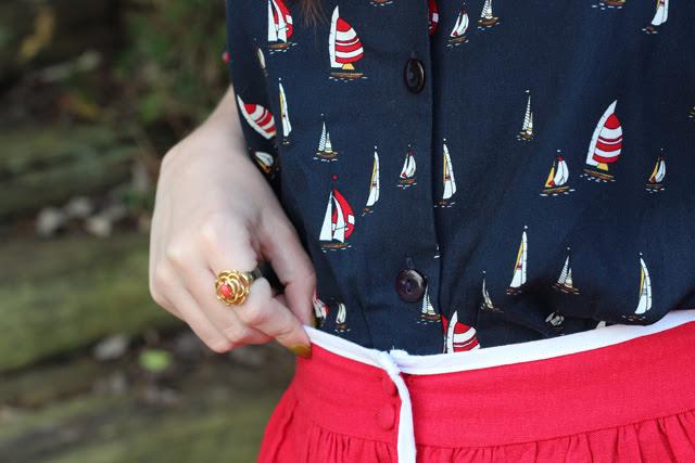 Navy Sailboat Shirt