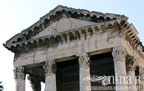 Temple closeup