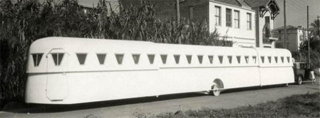 Extended trailer wagon in france invention