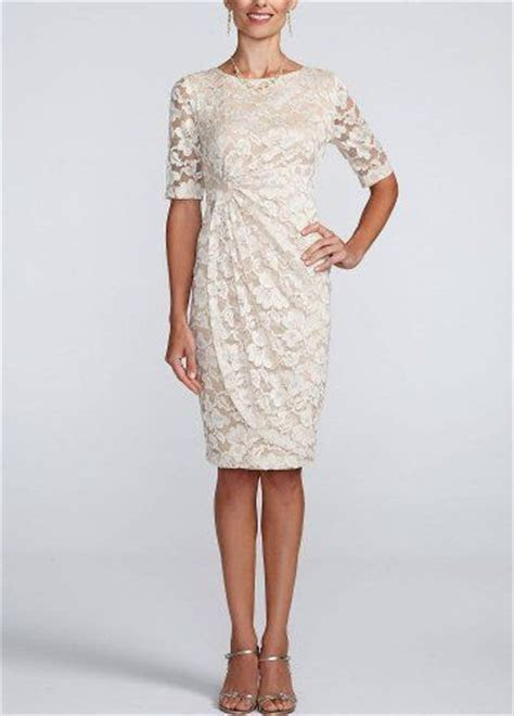 3/4 Sleeve Stretch Lace Short Dress   Fashion for Women