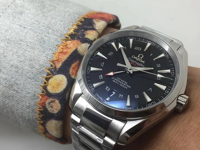 Omega Aqua Terra GMT Wrist Shot 2
