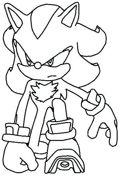 Super Sonic And Super Shadow Coloring Pages at GetDrawings ...