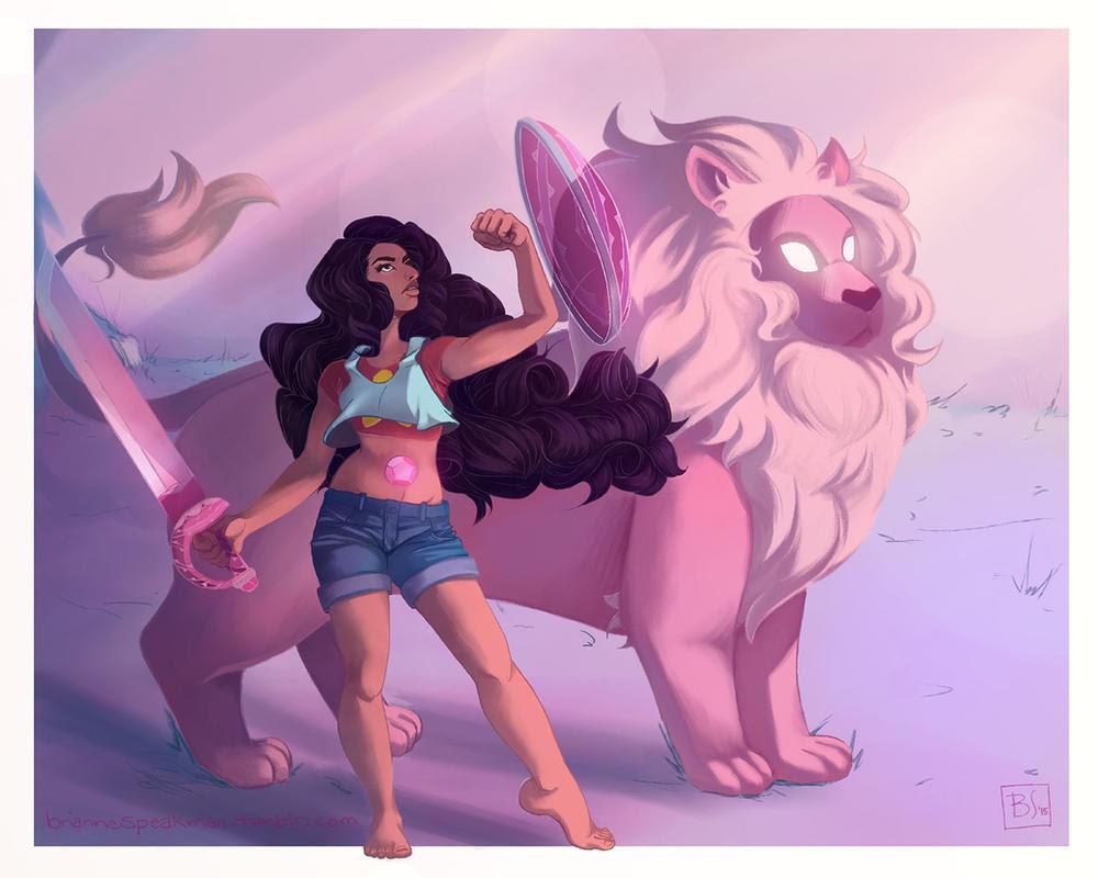 Stevonnie and Lion