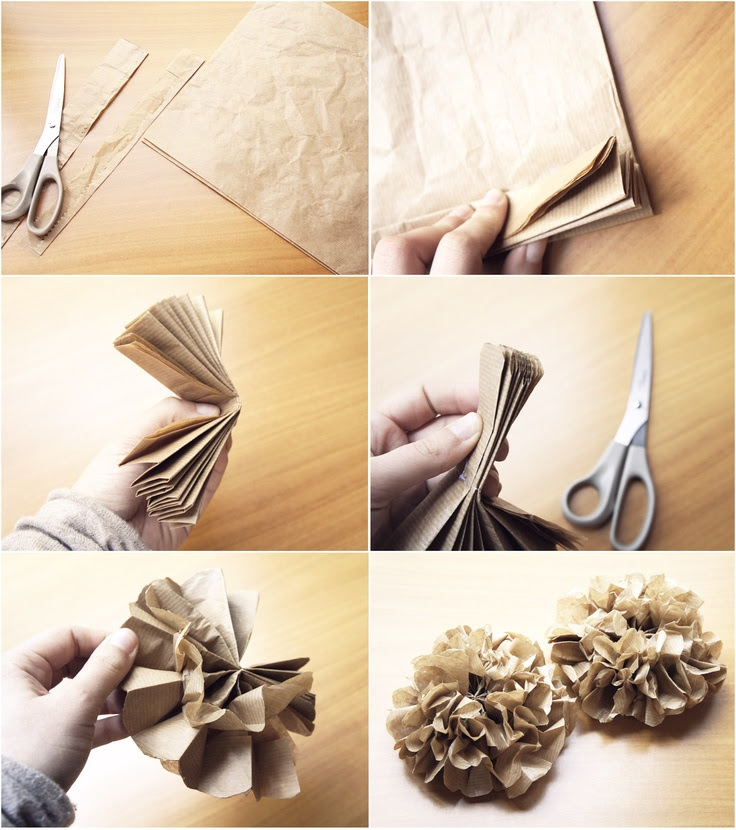 This would be cute using newspaper or gift wrap too...