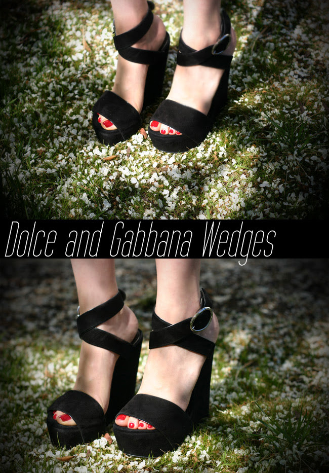 Dolce and Gabbana suede wedges, Fashion, Shoes