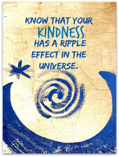 Ripple Effect Of Kindness Quotes