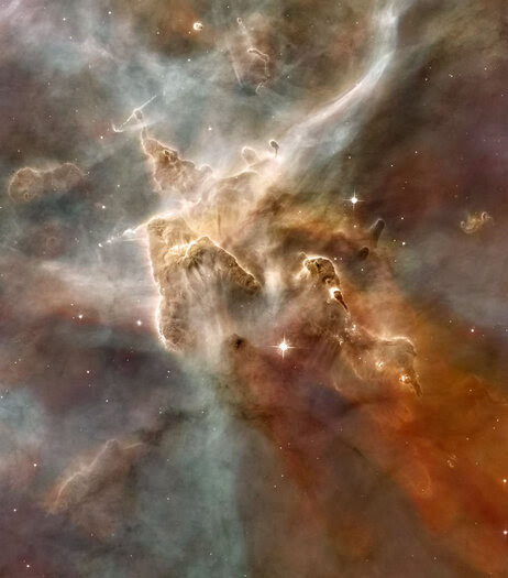 A star-forming region in the Carina Nebula.