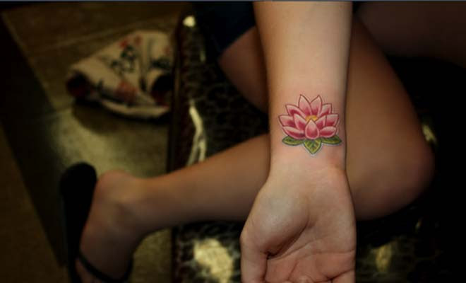 Lotus Wrist Tattoo Bigshocking
