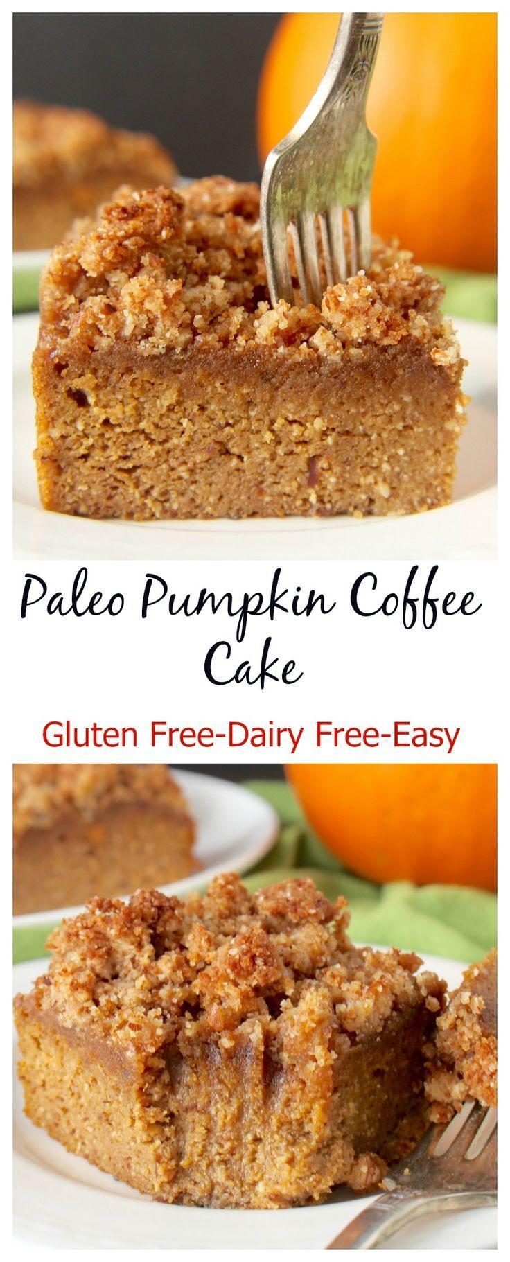 Paleo Pumpkin Coffee Cake (Gluten-Free, Grain-Free, Dairy ...