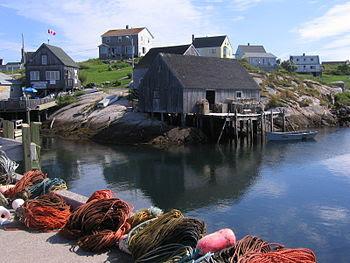 Harbour of Peggys Cove, Nova Scotia Français :...