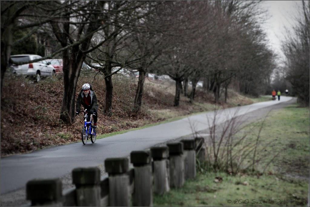 Folding Bike on Burke-Gilman Trail