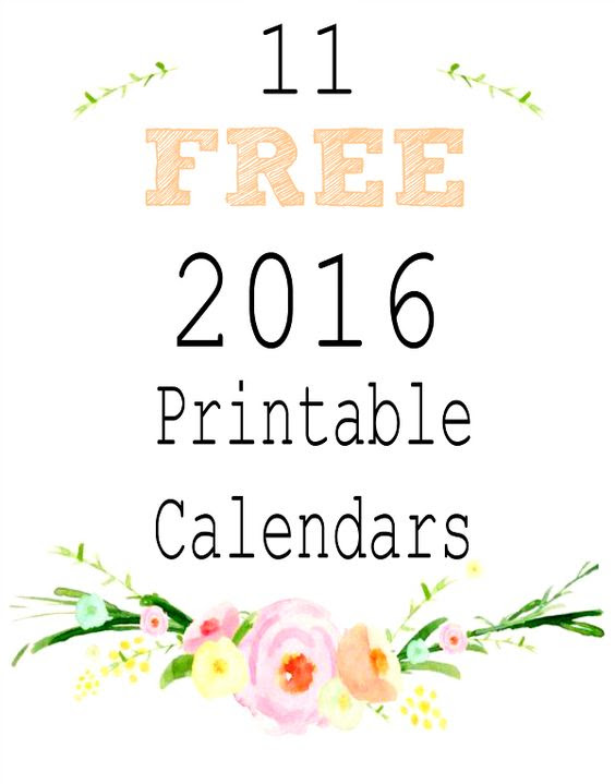 2016 Free Printable Calendars   Calendar, Free printable and Free ...