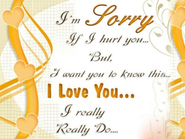 I Am Sorry If I Hurt You But I Love You Pictures Photos And Images