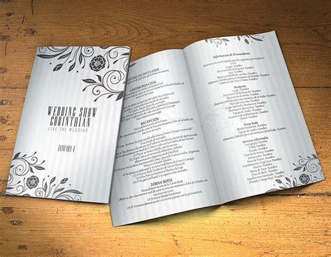 Wedding Program Template PSD 2 Sides   Graphicfy