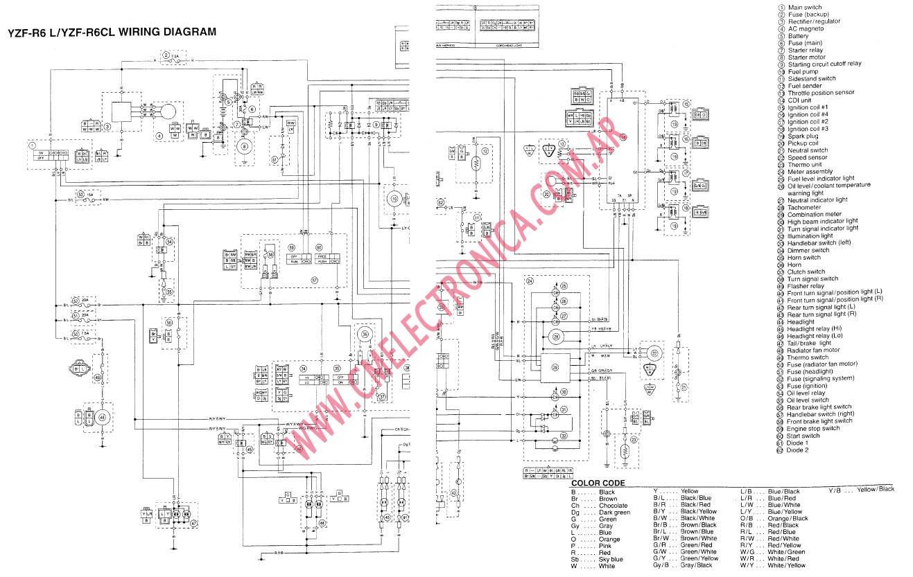 02 Yamaha Yzf R6 Wiring Diagram 41252 Enotecaombrerosse It