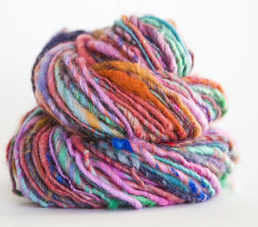 Passion Fruit- single ply handspun yarn