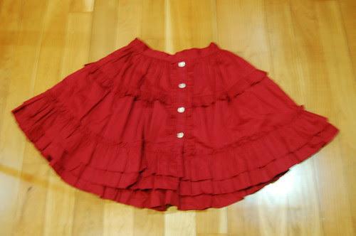 Lolita Closet Count! Skirts: Red - Dear Celine Red Skirt - 50cm Version