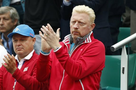 Boris Becker, que nunca ganó Roland Garros, sí el resto de Grand Slam, aplaude la labor de su pupilo Novak Djokovic, junto al también entrenador Marian Vajda