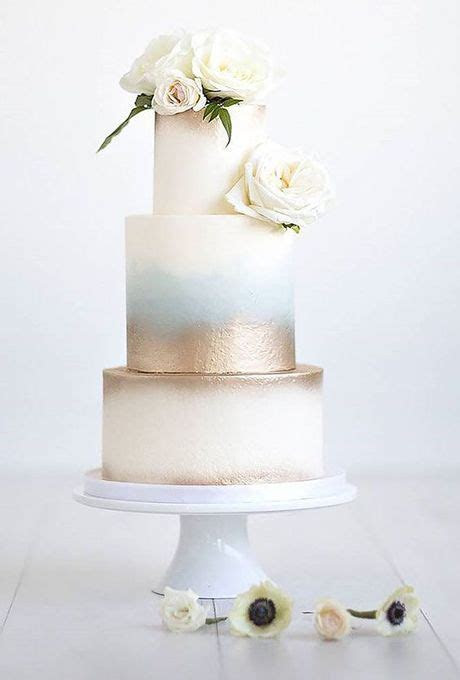 30 Modern Wedding Cake Ideas   Cakes   Metallic wedding