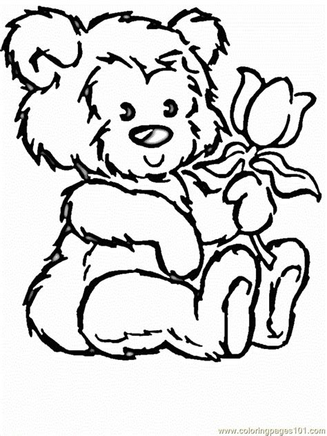 coloring pages flowers  animals cartoons flowers